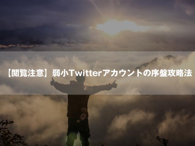 【閲覧注意】弱小Twitterアカウントの序盤攻略法【SNS戦略論】