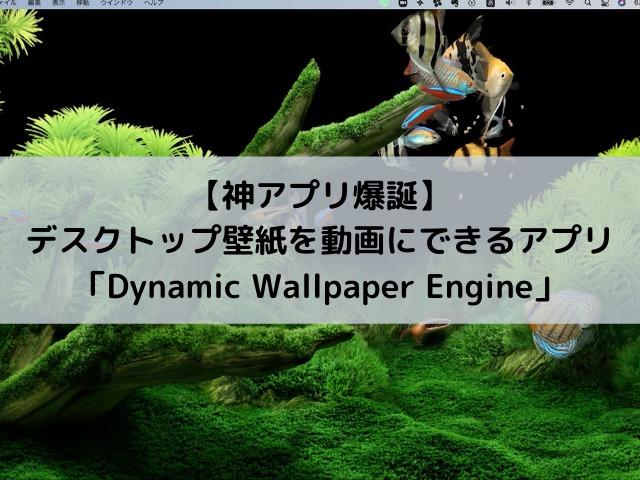 【神アプリ】Macbookのデスクトップ壁紙を動画にできるアプリ「Dynamic Wallpaper Engine」がすごい!